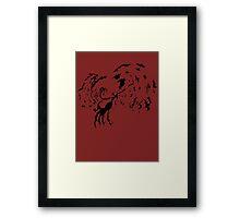 Tribal Phoenix - Black Framed Print