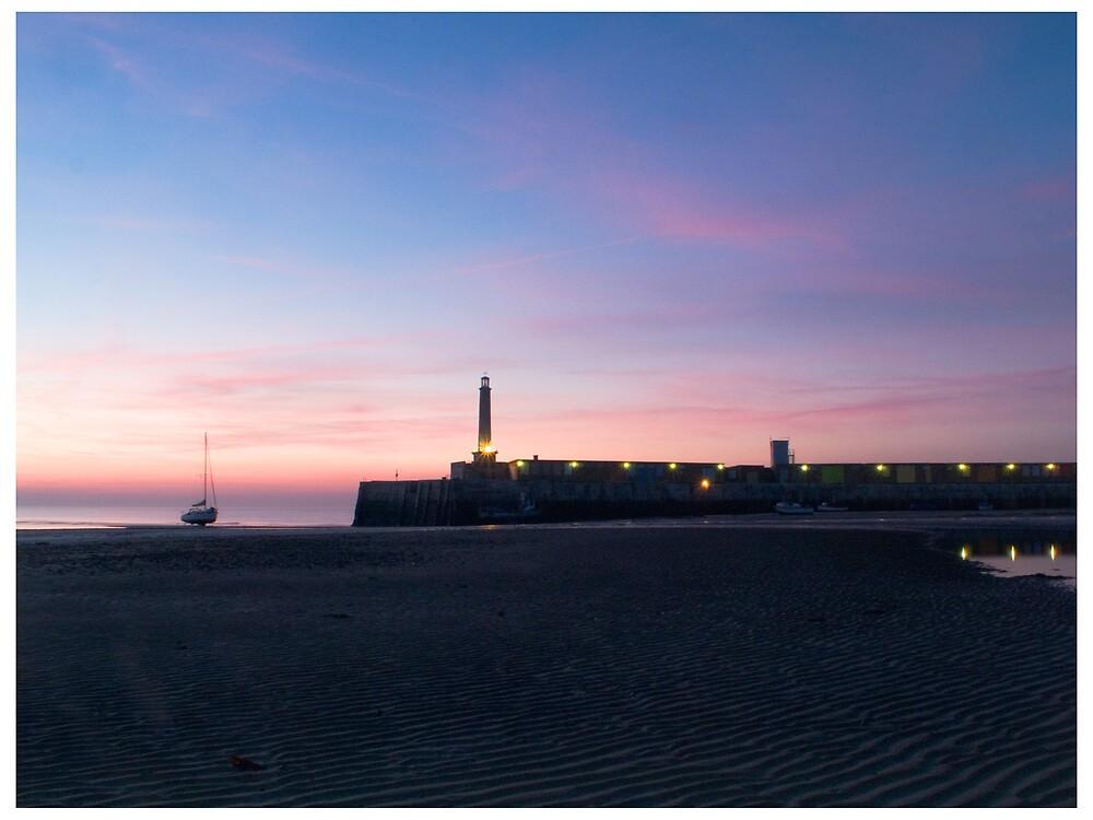 Margate harbour sunset by Paul Tremble