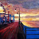 Santa Monica Pier at Dawn by artshop77