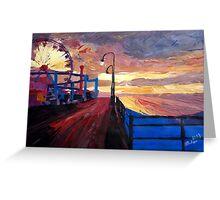 Santa Monica Pier at Dawn Greeting Card