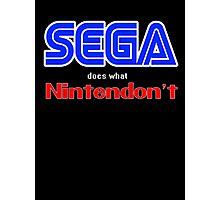 SEGA Does What Nintendon't Photographic Print