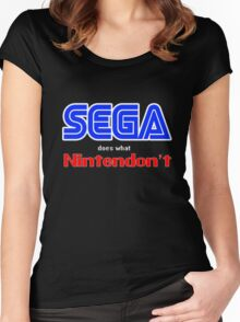 SEGA Does What Nintendon't Women's Fitted Scoop T-Shirt