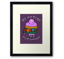 Lumpy Space Princess - Oh My Glob It's Christmas Framed Print