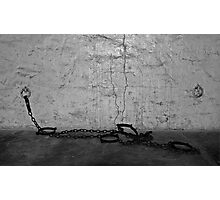 Prisoner Transport Chains Photographic Print