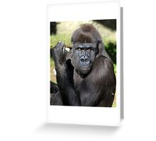 What !!  I'm eating. Greeting Card