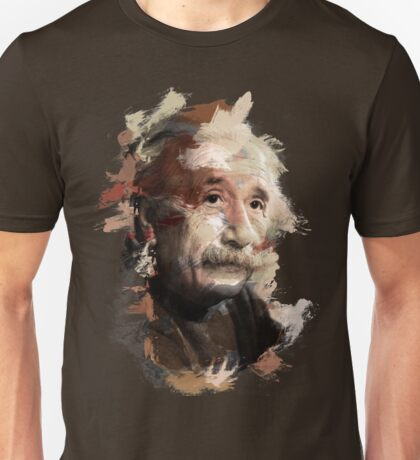 Paint Stroked Portrait of Albert Einstein Unisex T-Shirt