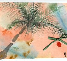 Christmas Palm Tree 23c by Melinda Tarascio Lidke
