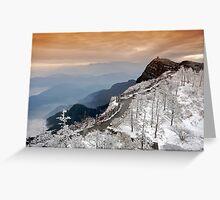 Summit of Emei Mountain. Sichuan, China Greeting Card