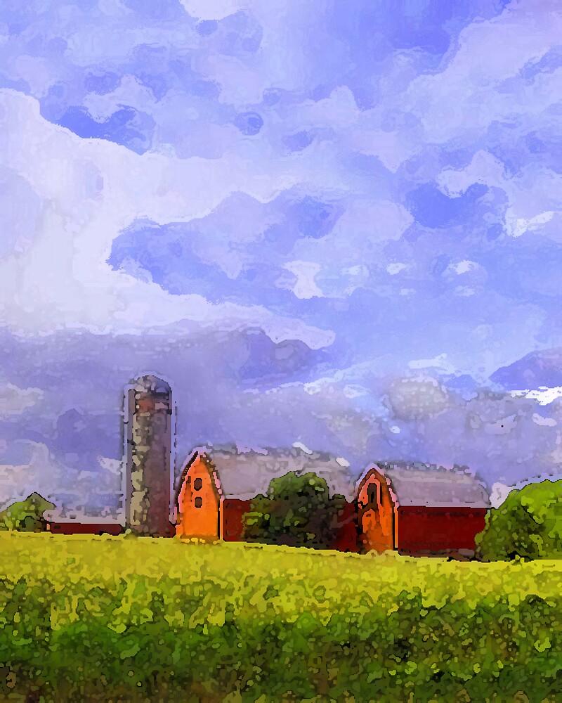 Red Barns by nikspix