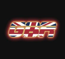 GBR - Great Britain - Flag Logo - Glowing Kids Clothes