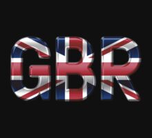 GBR - British Flag - Metallic Text Kids Clothes