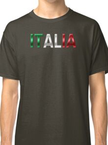 Italia - Italian Flag - Metallic Text Classic T-Shirt