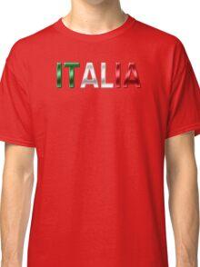 Italia - Italian Flag - Metallic Text Classic T-Shirt