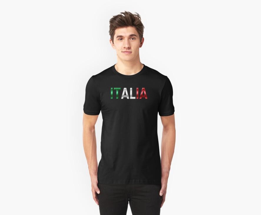 Italia - Italian Flag - Metallic Text by graphix