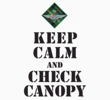 KEEP CALM AND CHECK CANOPY - 15 PARA by PARAJUMPER