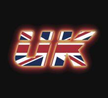 UK - Flag Logo - Glowing Kids Tee