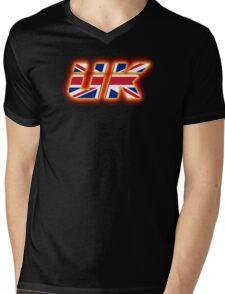 UK - Flag Logo - Glowing Mens V-Neck T-Shirt