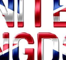 United Kingdom - British Flag - Metallic Text Sticker