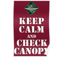 KEEP CALM AND CHECK CANOPY - 15 PARA Poster