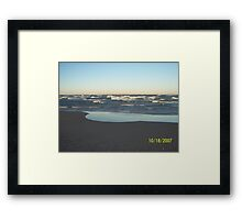 Silver Beach Framed Print