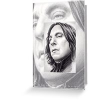 Alan Rickman miniature Greeting Card