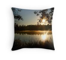 Morning Bayou Reflections Throw Pillow