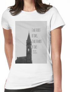 Charles Dickens Tale Two Cities Womens Fitted T-Shirt