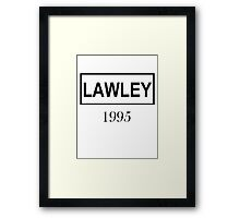 LAWLEY BLACK Framed Print