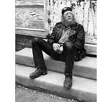 Biker Trash Photographic Print