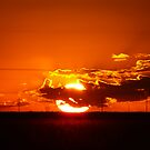 Sunset Globe of Fire by Geoffrey