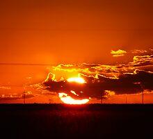 Sunset Globe of Fire by Geoffrey