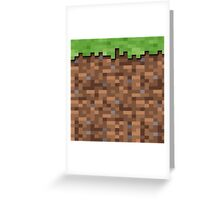 Minecraft Grass Block Merch Greeting Card