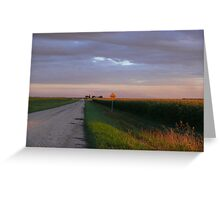 Sunset Harvest Country Gravel Road Greeting Card