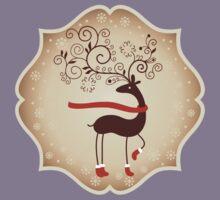 Elegant Reindeer Christmas Card - Happy Holidays Kids Clothes