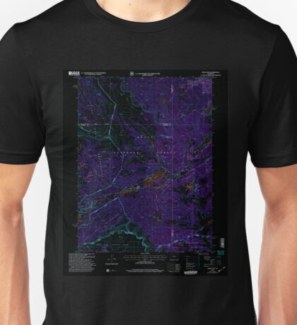 USGS TOPO Map Colorado CO Orno Peak 234003 2000 24000 Inverted Unisex T-Shirt