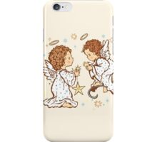 Cute Angels Christmas Card - O Holy Night iPhone Case/Skin