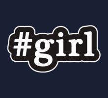 Girl - Hashtag - Black & White Kids Tee