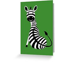 SITTING ZEBRA #2 Greeting Card