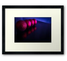 Red christmas balls Framed Print