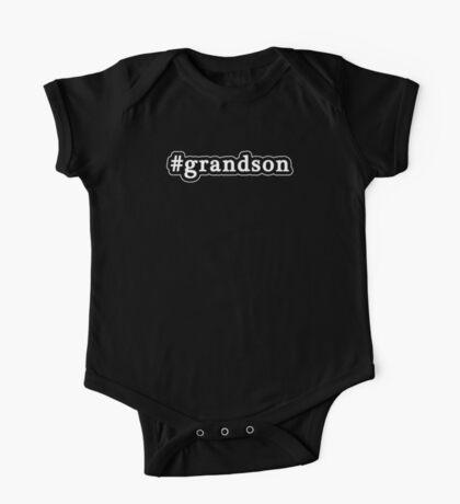 Grandson - Hashtag - Black & White One Piece - Short Sleeve