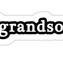 Grandson - Hashtag - Black & White Sticker