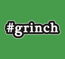 Grinch - Christmas - Hashtag - Black & White by graphix