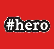 Hero - Hashtag - Black & White by graphix
