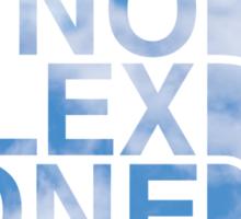 No Flex Zone (clouds) Sticker