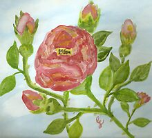 "a wild red rose ""girls rooms""  by candace lauer"