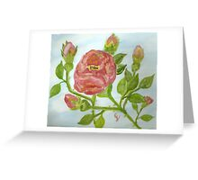 """a wild red rose """"girls rooms""""  Greeting Card"""