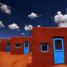 Three Doors of Taos by Christian von Schleicher