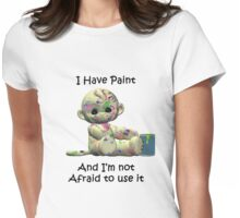 Painted Monkey Tee Womens Fitted T-Shirt