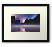 Sunrise Alma Canyon. Framed Print