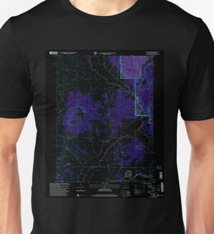 USGS TOPO Map Colorado CO Mad Creek 233681 2000 24000 Inverted Unisex T-Shirt